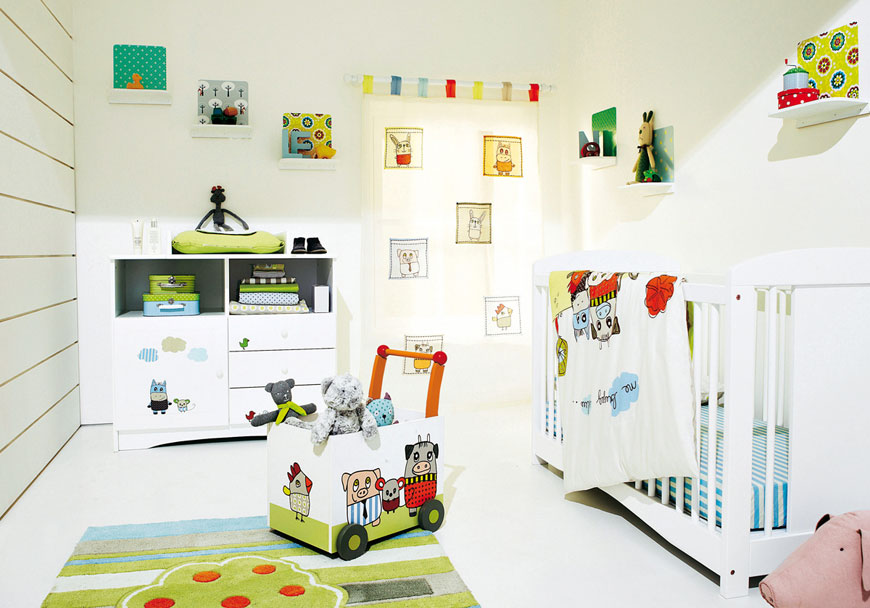 White Baby Bedroom with Cute and Fun Decorations