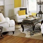 White and Yellow Classic Living Room