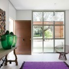 Amazing Interior with Purple Color Rugs