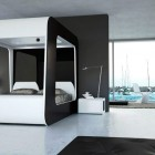 Black and White Luxury Bed Television