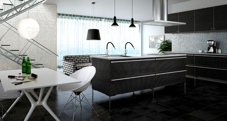 Black and White Modern Kitchen Patterns