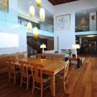 Classic Dining Table with Wooden Floor Design