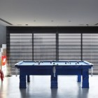 Cool Blue Pool Table in Apartment