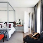 Cool Modern Main Bedroom with Red Accents