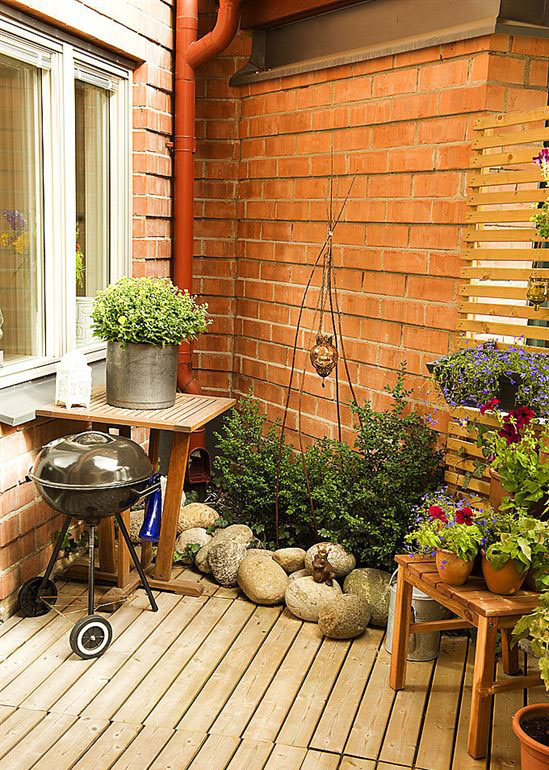 Corner small garden apartment ideas interior design ideas for Small corner garden designs