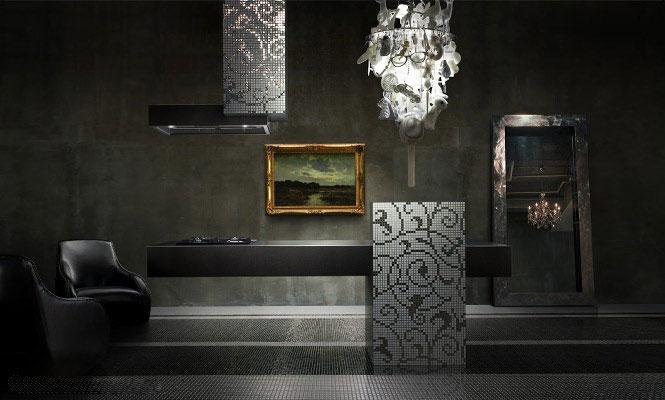 Elegant Kitchen Patterrns Black Design