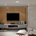 Enetertain Room With LCD TV and Blu Ray