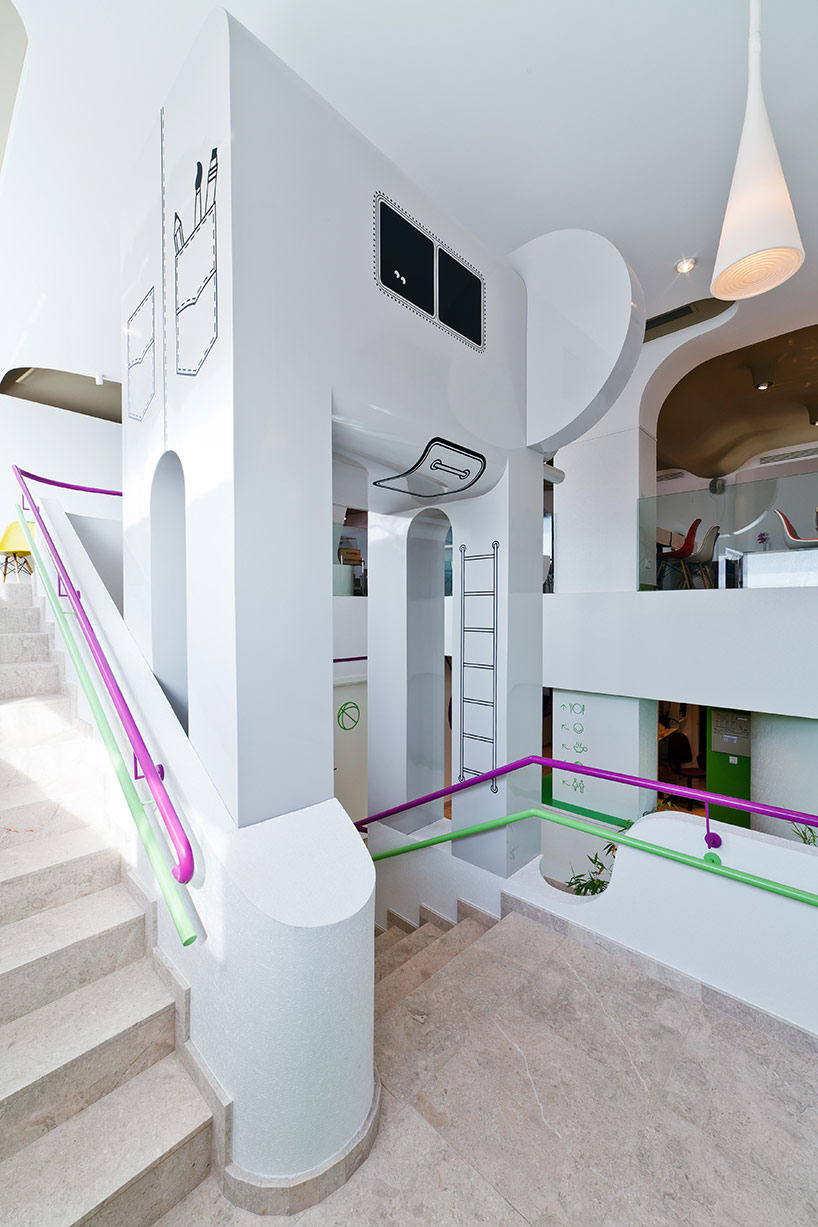 Fancy Hangout and Cool stairs with Purple and Green Handle
