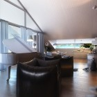 Focal Point of the Living Room with Black Luxury Sofa