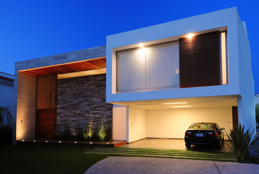 Modern Design Ev House With Exotic Lighting Architecture