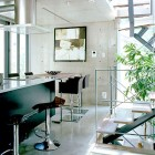 Glossy Kitchen Japanese with Chandelier