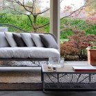 Grey Outdoor Furniture with Beige Rugs Ideas