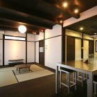 Japanese Zen Dining Room with Shoji Sliding Door