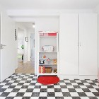 Kids Room with Wall Height Gauges and Red Accents