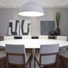 Large White Dining Table for Eight