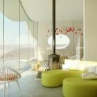 Lime Green Sofas Desert Villa Interior Ideas