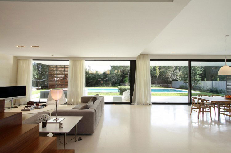 Living Room with Pool Lookout Ideas