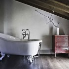 Luxury Bath Tubs in Second Floor with Sloping Ceiling