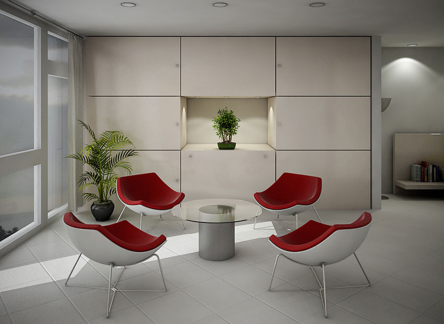 Minimalist White Red Seating Living Room Ideas Interior Design Ideas