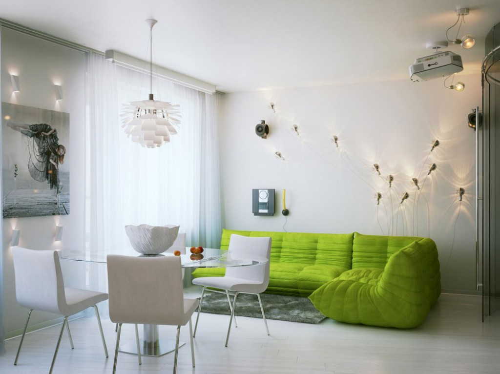 Modern Comfort Green Couch Living Room