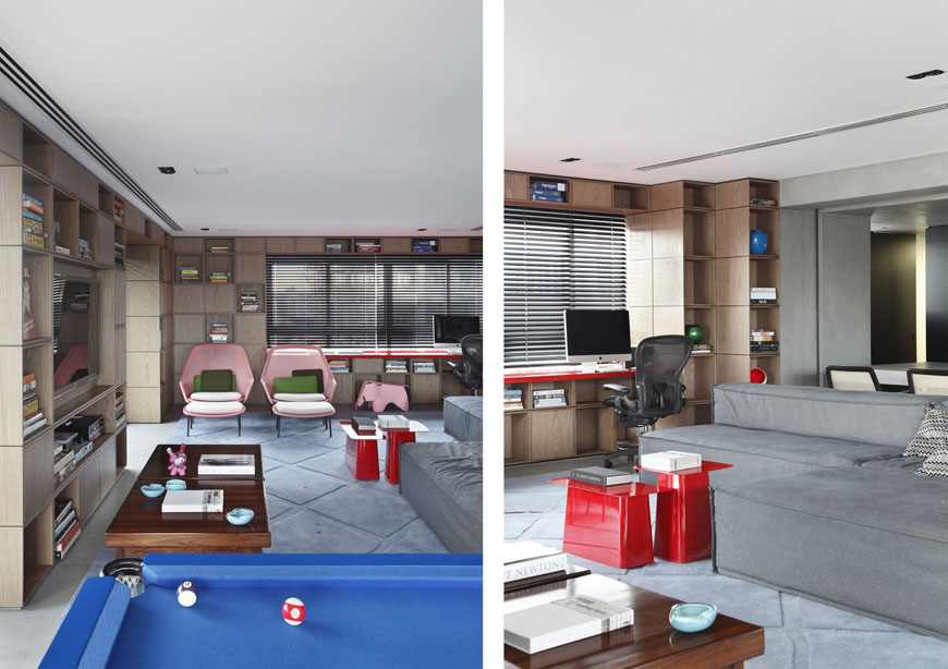 Modern Design Work Room Living Room and Pool in One Area
