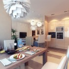 Modern Dining Area with Statement Ceiling Light Units Ideas
