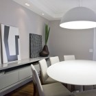 Modern Dining Room with Minimalist Chandelier