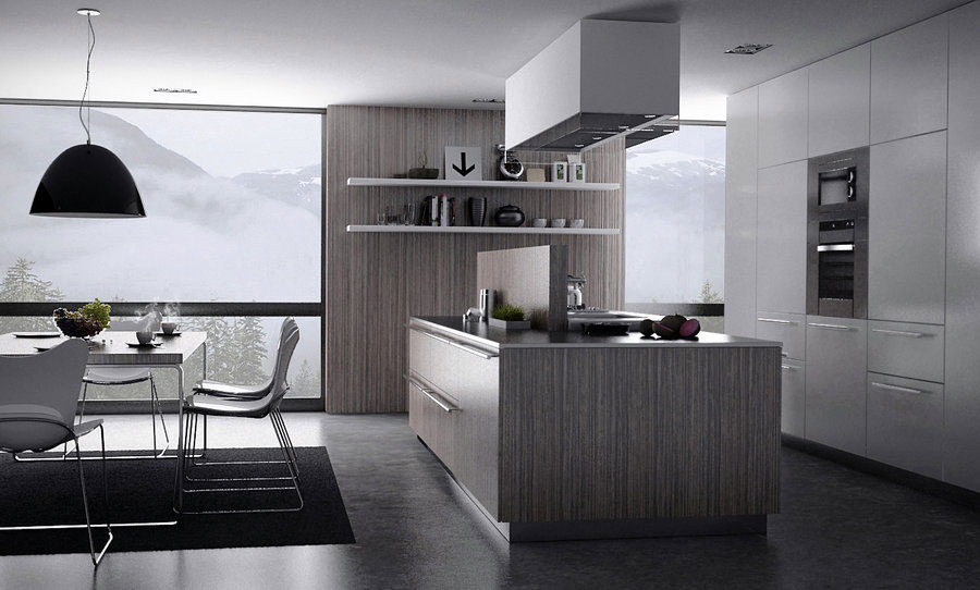 Modern grey kitchen design interior design ideas for Kitchen designs grey
