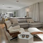 Modern Living Roo Apartment with Luxury Sofa