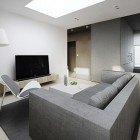 Modern Living Room White with LCD TV