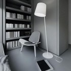 Modern Reading Nook with Grey Color Room