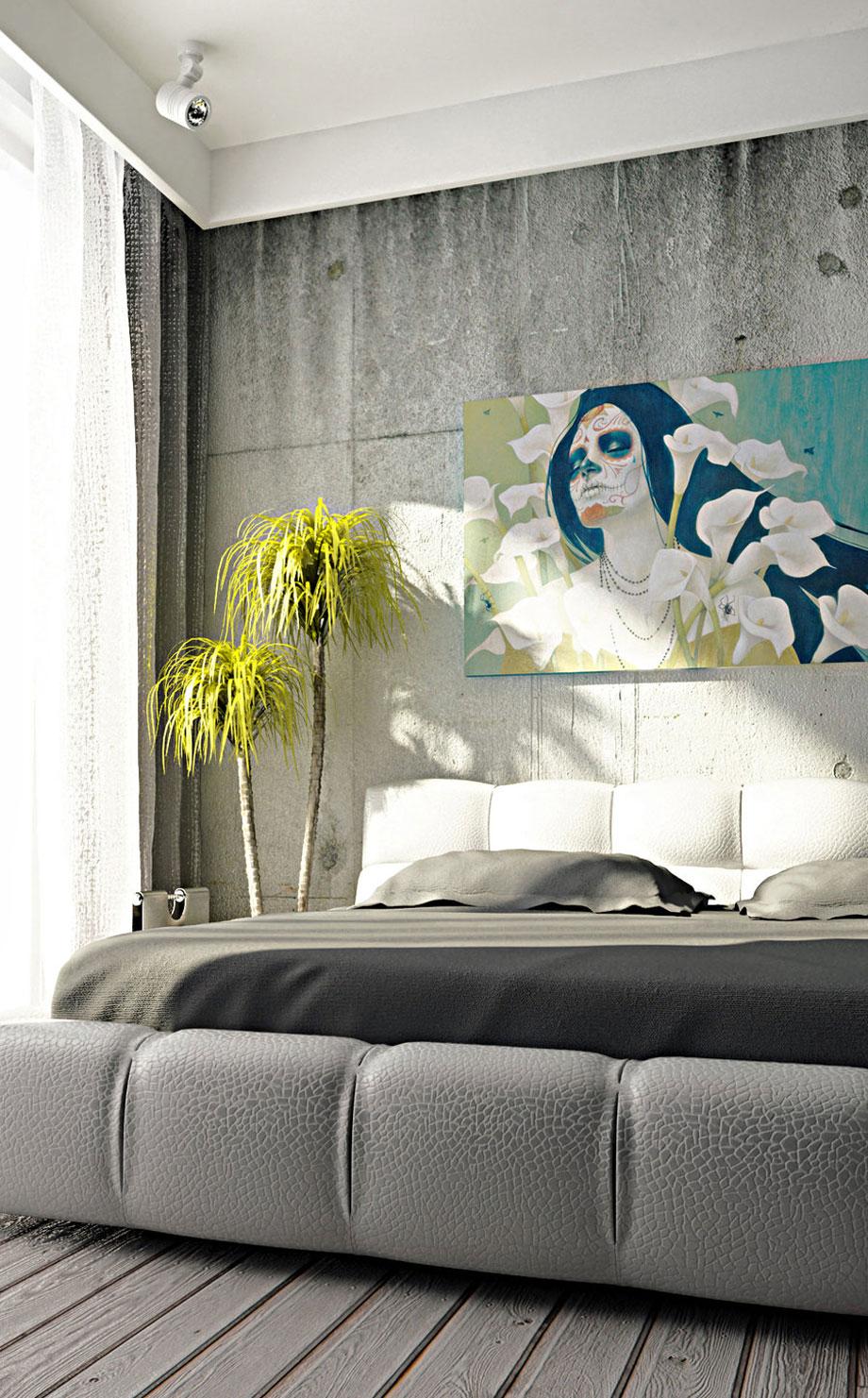 Modern Surreal Art Interior Bedroom Design