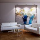 Modern White Sofa Living Room and Wood Floor
