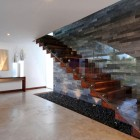 Modern Wooden Stairs with Glass