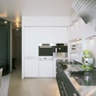 Modern and Futuristic Small Space Kitchen