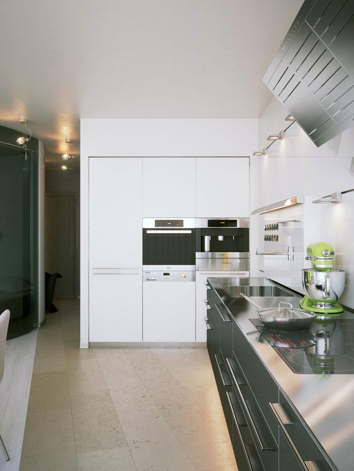 Modern and Futuristic Small Space Kitchen