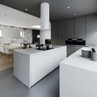 Modern and Sophisticated White Island Kitchen