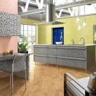 Pink and Yellow Kitchen Patterns Design