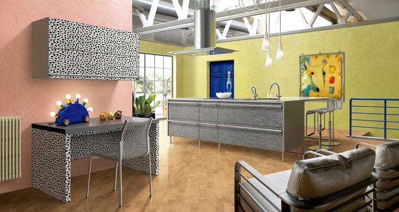 Pink and Yellow Kitchen Patterns Design