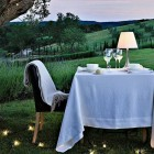 Romantic Outdoor Dining Table with Beautiful View