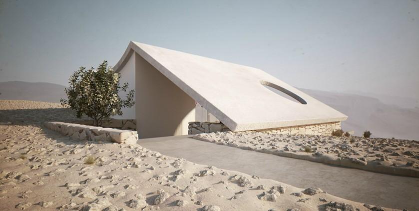 Roof Design Isolated Desert Residence