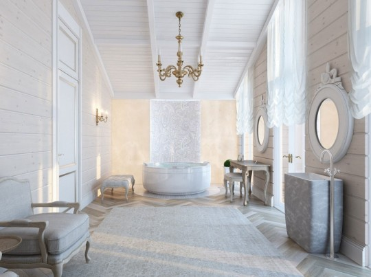 The White Luxury Bathroom Overview Inspirations