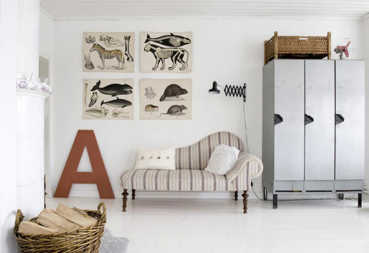 Uninque Living Room Interior Design with Alphabet Decor