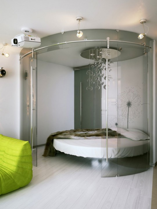 Unique Circular Glass Bedroom Inspirations