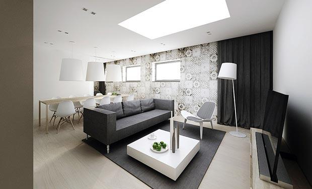 Urban Printed Wall Decor Living Room Interior Design Ideas