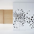 Wardrobe Art Black Color Decoration