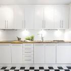 White Sinks and Furniture Kitchen Design Ideas