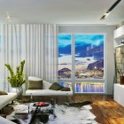 Amazing Apartment Living with Sea View and Cowhide Rug