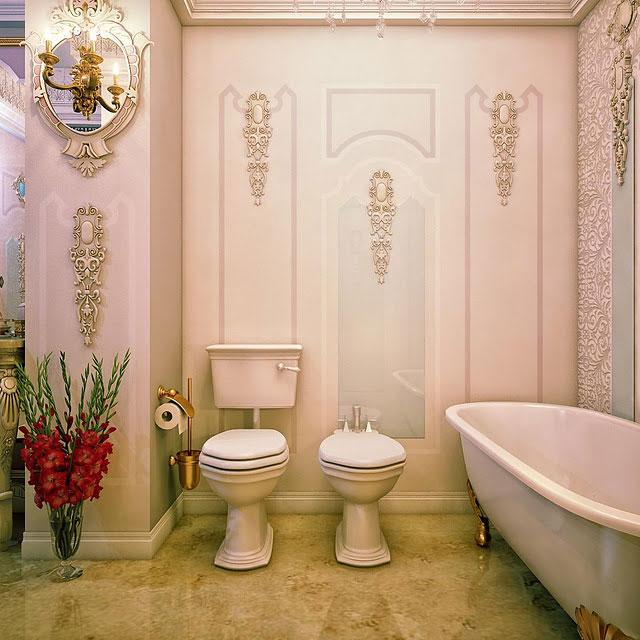 Amazing Baroque Bathroom Details