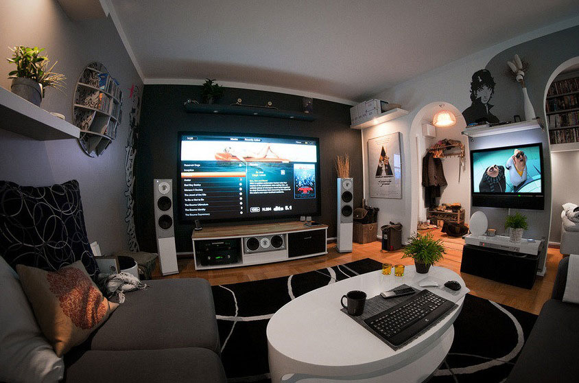 How to Create Your Own Modern Home Entertainment Center - Interior ...